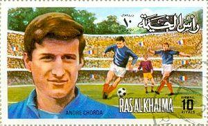André Chorda - Image: André Chorda 1972 Ras al Khaimah stamp