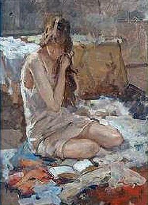 André Cluysenaar - Girl Reading (c.1920)