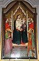 Andrea orcagna (già attr. a un maestro di s. giorgio a ruballa), Madonna in trono col Bambino e i ss Mattia, Giorgio e un donatore (1336) 01.JPG