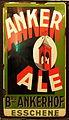 Anker Ale, Brouwerij Ankerhof, Esschene, enamel advertising sign.JPG