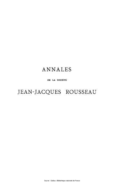 File:Annales de la société Jean-Jacques Rousseau, tome 2.djvu
