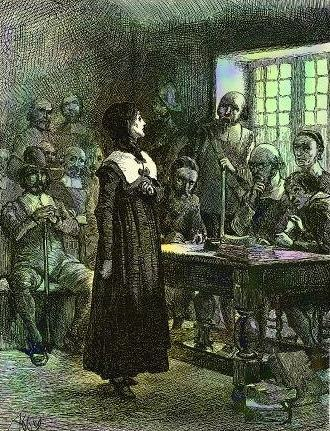 Congregationalism in the United States - Anne Hutchinson on Trial (1901) by Edwin Austin Abbey