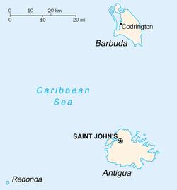 Lage von Barbuda