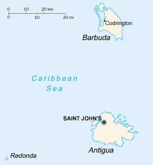 Barbuda - Image: Antigua and Barbuda map