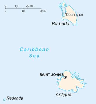 Barbuda - Image: Antigua and Barbuda map