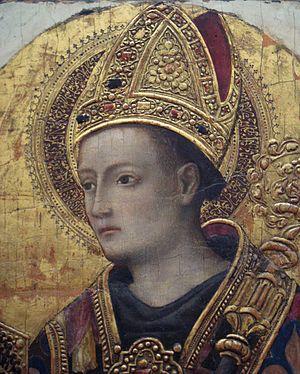 Pseudo-Kufic - Image: Antonio Vivarini 1450 Saint Louis de Toulouse detail