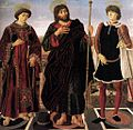 Antonio del Pollaiolo - Altarpiece of the Sts Vincent, James, and Eustace - WGA18033.jpg