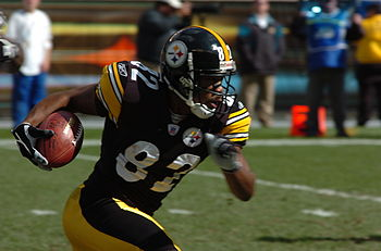 Antwaan Randle El of the Pittsburgh Steelers r...