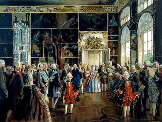 Выход Екатерины II ко двору