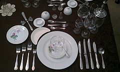 Appetizer Course & Table setting - Wikipedia
