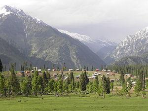 Neelam Valley - View of Arang Kel, a village situated in Neelum valley.