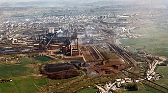 Steel industry in Luxembourg - The Esch-Belval site of ARBED, in 1991