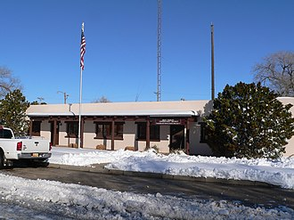 National Register of Historic Places listings in Quay County, New Mexico - Image: Arch Hurley Conservancy Bldg from SE 1