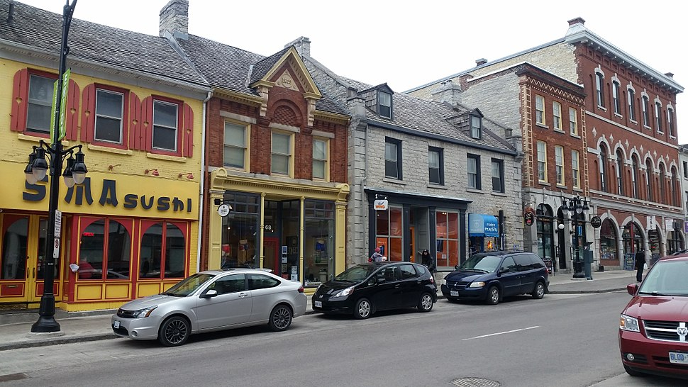 Architecture of Princess Street in downtown Kingston