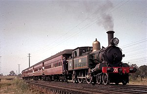 New South Wales Z13 class locomotive - 1301 on a special excursion near Minto