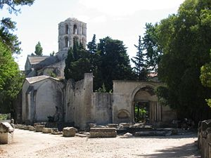 Alyscamps - Medieval Church of Saint Honoratus in Les Alyscamps, Arles