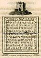 Armenian inscription over the Citadel gate of Selefkeh - Beaufort Francis F - 1817.jpg