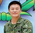 Army (ROCA) Lieutenant General Huang Kuo-ming 陸軍中將黃國明 (20160527 賴市長致贈黃指揮官加菜金 IMG 5922).jpg