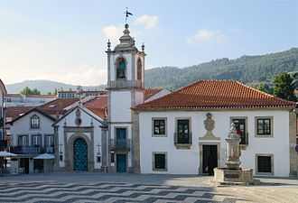 Arouca, Portugal - The centre of Arouca, with the Chapel of Misericórdia