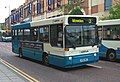 Arriva bus 1657 Dennis Dart Plaxton Pointer K582 MGT in Darlington 5 May 2009.JPG