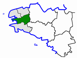 Location of Châteaulin in Finistère