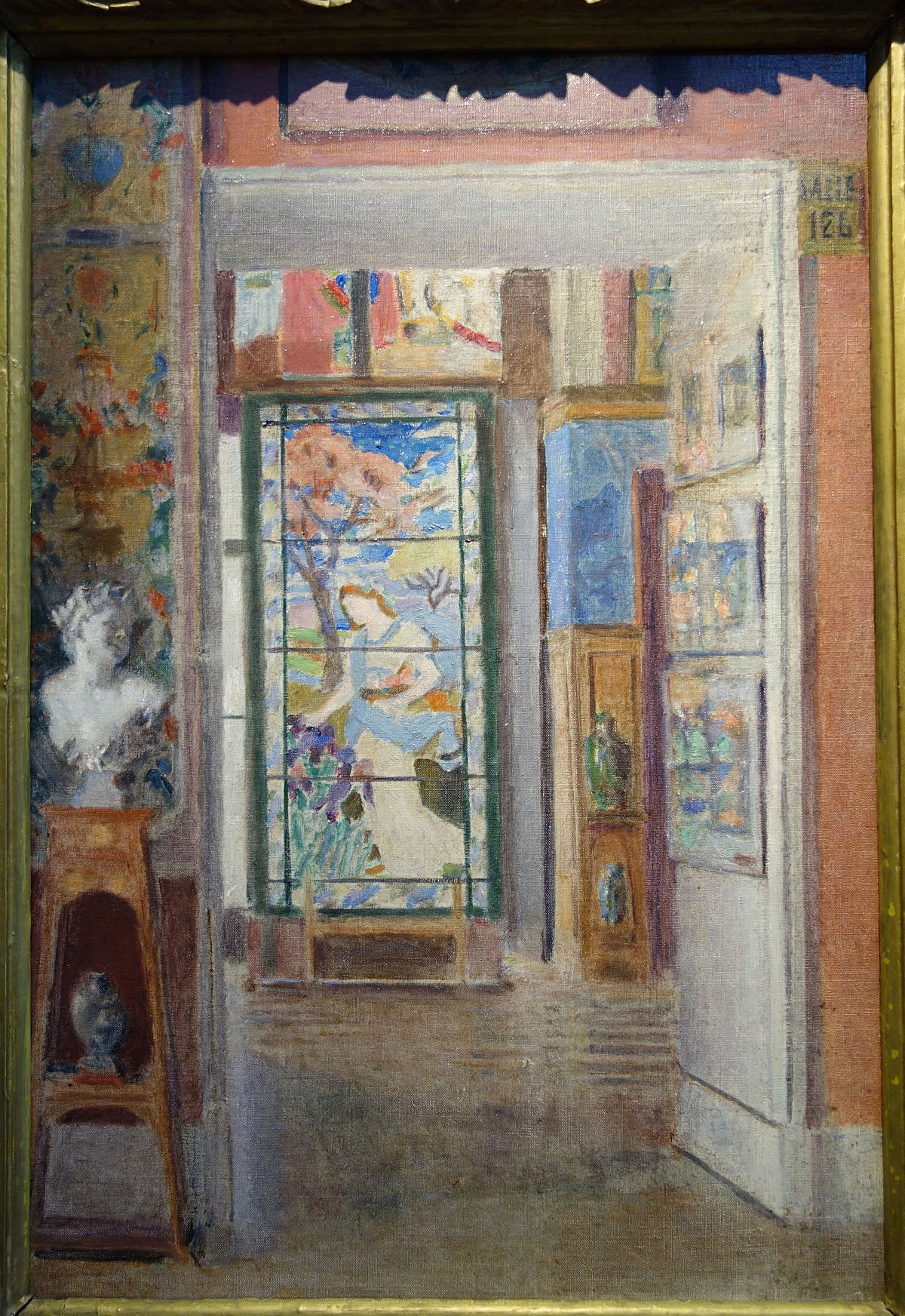 Arte Moderne by Eleanor Norcross, c. 1920, oil on canvas - Fitchburg Art Museum - DSC08886.JPG
