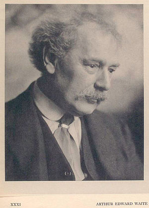 A. E. Waite - Waite photographed in London, 13 January 1921.