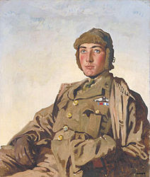 William Orpen: Lieut A. P. F. Rhys Davids, DSO, MC (1897–1917)