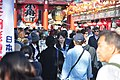 Asakusa - people leaving Senso-ji 16 (15763012312).jpg
