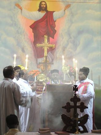Feast of the Ascension - Liturgy during the Feast of the Ascension in a Mumbai Syrian Orthodox Church