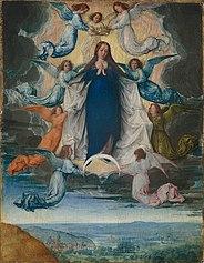 La solution: groupe de prière du rosaire en ligne - Page 12 184px-Ascension_of_the_virgin_Michel_Sittow