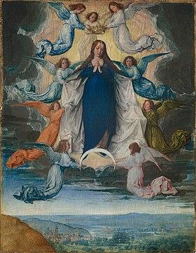 L'Assomption de la Vierge(Michel Sittow, vers 1500).