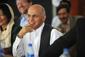 Ashraf Ghani - Ghani at a meeting in Panjshir Province  in 2011