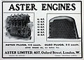 Aster Ltd, Oxford street, Advert and engine list Sept-1905.jpg
