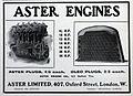 Aster Ltd, Oxford street, Advert and engine list Sept-1905.jpg