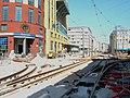 Astridplein tramspoor vernieuwing in 2006.jpg