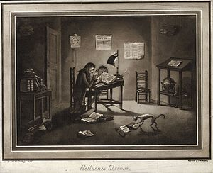 Samuel Vince - Image: Astronomy; Samuel Vince reading in his rooms at Sidney Susse Wellcome V0024858