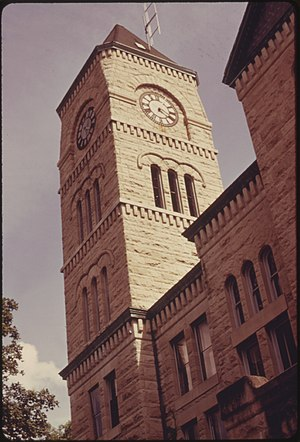 Atchison County, Kansas - Image: Atchison county kansas courthouse 1974