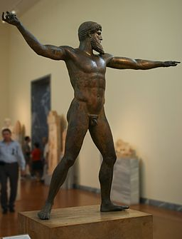 Athens - National Archeological Museum - Zeus (or Poseidon) statue - 20060930