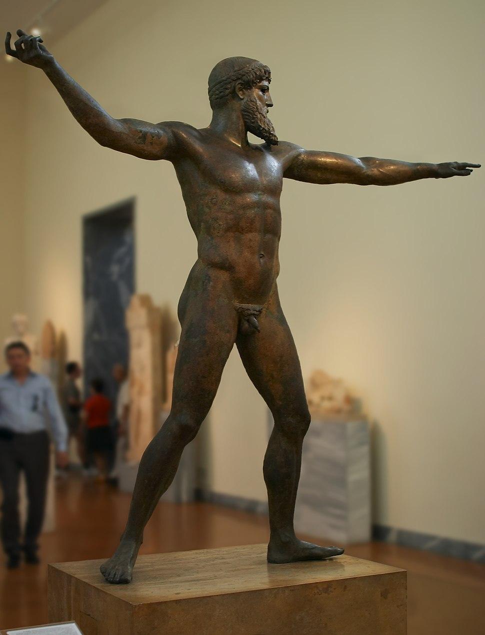 Athens - National Archeological Museum - Zeus (or Poseidon) statue - 20060930