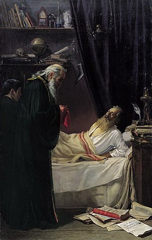 Nikolaos Alektoridis - The death of an atheist, 1906 painting by Alektoridis.