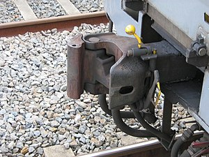 Janney coupler - Henricot coupler on a Belgian EMU showing the Henricot coupler