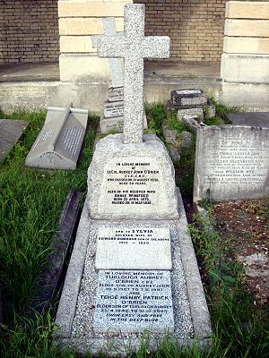 Mianwali District - Grave of Lt. Col. A J O'Brien, 1st Deputy Commissioner of Mianwali district, at Brompton Cemetery, London