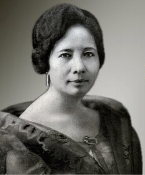 First Lady or First Gentleman of the Philippines - Image: Aurora Aragon Quezon