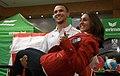 Austrian Olympic Team 2012 a Tamira Paszek, Amer Hrustanovic.jpg