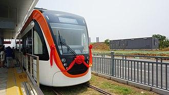 Trams in Wuhan - Auto-city T1 Tram