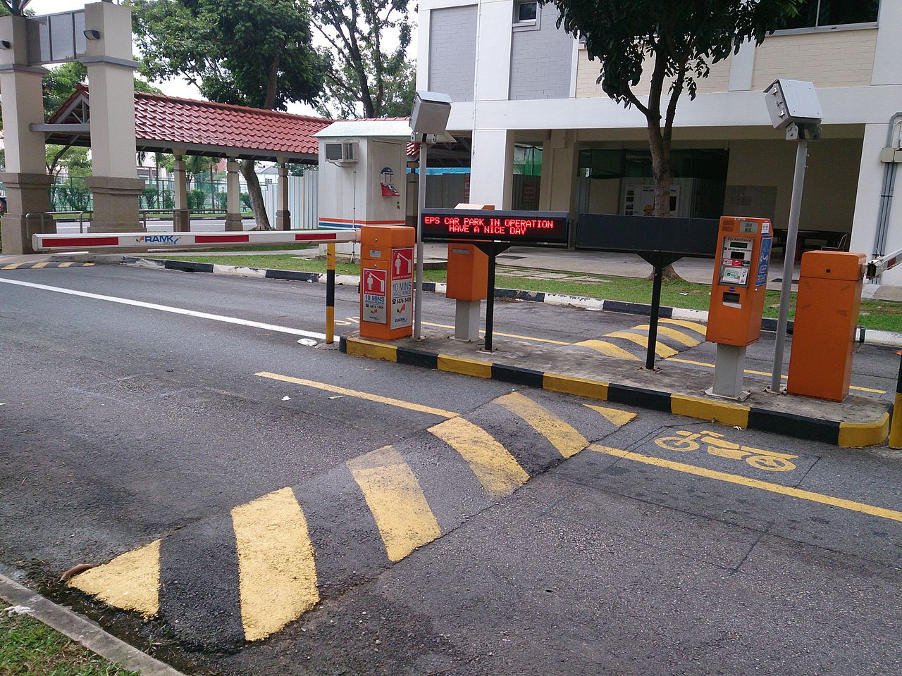 Automated barrier at car park