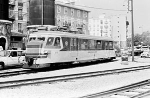 Chemins de Fer de Provence - Railcar 212 in Nice Gare du Sud in 1983.