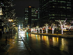 Avenue McGill College in Montreal,