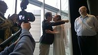 Avner and Darya's wiki Wedding at Wikimania by ovedc 01.jpg